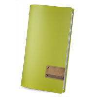18 x DAG Personalised A4 Recycled Lime Green Leather menu covers