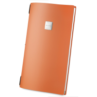18 x DAG Personalised A4 Orange Recycled Leather Menu Covers