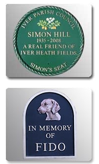 Engraved Memorial Signs Available In Bedfordshire