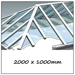 Traditional Roof Lantern - 2000 x 1000mm