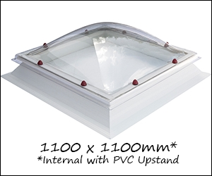1060 x 1060mm Square Skylight Dome