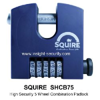 Squire SHCB75 High Security 5 Wheel Combination Padlock (75mm Body)