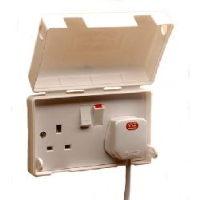Socket Pro - Socket Safety Cover (Hinged Clipdown Lid), for Double 13a Socket