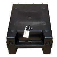 CIT (Cash in Transit) box with padlockable hasp fitting
