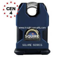 Squire SS50CS 50mm High Security Solid Steel Close Shackle Padlock CEN4