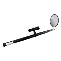 Telescopic Arm & fitted torch - with 140mm diam. Glass Inspection Mirror (under vehicle search, etc)