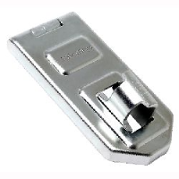 Discus - Hardened Steel Security Hasp with fixings (120 x 56mm - 13mm shackle diam)