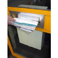 Mailpro - Internal Use - Slim Anti Arson Mailbox, with 2xALF300 ext. (FE25) - White Finish