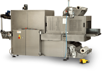 MS70L Sleeve Wrapping and Bundling Machine with Line Infeed and Tunnel