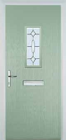 1 Square Clarity Composite Front Door in Chartwell Green