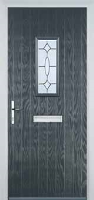1 Square Clarity Composite Front Door in Anthracite Grey