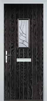 1 Square Abstract Composite Front Door in Black Brown
