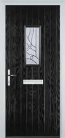 1 Square Abstract Composite Front Door in Black