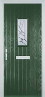 1 Square Abstract Composite Front Door in Green