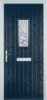 1 Square Abstract Timber Solid Core Door in Dark Blue