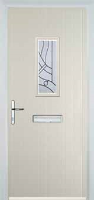 1 Square Abstract Timber Solid Core Door in Cream