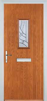 1 Square Abstract Timber Solid Core Door in Oak