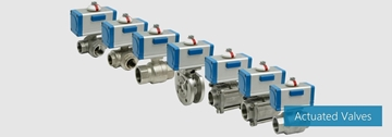 Actuated Valves For Industrial Applications