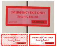 Emergency Exit Security Label