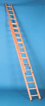 9m Long Wooden Extension Ladders