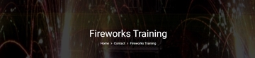 Fireworks Training Services In UK