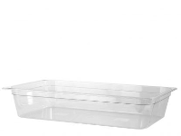 1/1 GN X 100mm Clear Polycarbonate Gastronorm Food Container