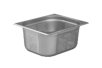 1/2 Perforated Gastronorm 150mm Deep stainless steel food pan