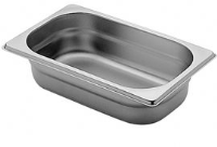 1/4 Gastronorm 100mm Deep stainless steel food containers and pan