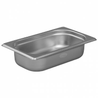 1/4 Gastronorm 65mm Deep stainless steel food containers and pan