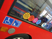 Double Sided Printed Graphics For Bus Windows