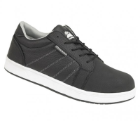 Himalayan Black Leather Iconic Skater Shoe with Steel Midsole