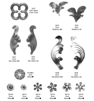 Decorative Wrought Iron Leaves