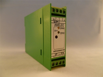 """AC Voltage or Current Transmitter Individual Plug-in Modules for 3U High 19"""" Rack Mounted Instrumentation"""