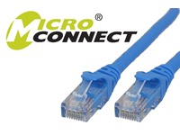 UTP6005BBOOTED MicroConnect UTP CAT6 0.5M BLUE SNAGLESS LSZH - eet01