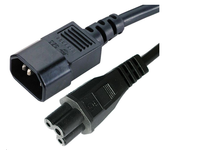 MicroConnect Power Cord C5 - C14 1m Black, PE080610 - eet01
