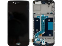 MicroSpareparts Mobile LCD Screen and Digitizer Front Frame Assembly Black MOBX-OPL-5-LCD-B - eet01
