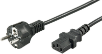 MicroConnect Power Cord CEE 7/7 - C13 1m Black, PE020410 - eet01
