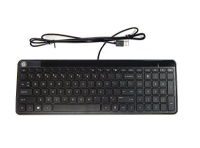 Hp Hp K3010 Compact Wired Usb Keyboard Ad - With Numpad Section Black Front And Back 801526-b41 - xep01