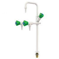 Three-Way Cold Water Lab Tap, Bench Mounted