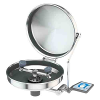 Eyewash, wall mounted, stainless steel bowl with cover