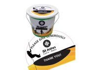 Collection Bucket Lid Label (customised)
