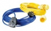 110V & 240V Extension Leads In Middle Wallop