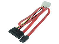 PI17146 MicroConnect SATA Power 15+7pin-4+7pin 150mm+340mm - eet01