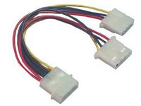 PI01032 MicroConnect Power 4pin - 4pin + 4pin M / F+F, 0,15m - eet01