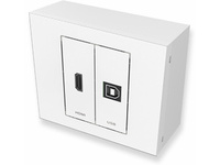 Vivolink 2 module HDMI+USB Complete wall outlet box with VL-INSTKIT-5M-USB-HDMI - eet01