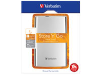 Verbatim External HD 1 TB Silver 2.5 inch, 64 mm, USB 3.0 53071 - eet01