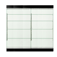 Eight Shelf Collectors Glass Cabinets
