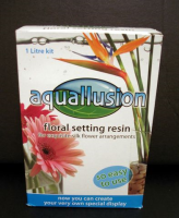 Aquallusion Floral Resin, Artificial Water - 1 litre kit Clear (artificial water)