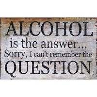Alcohol Is The Answer Message Plaque - 25cm x 16cm
