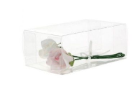 Artificial Acetate Corsage Clear Boxes - 15 x 9 x 6cm, Clear
